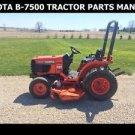 KUBOTA B7500D PART MANUAL SET 330pg for B-7500 D Diesel Tractor Service & Repair