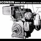 WISCONSIN BKB ACN ENGINE MANUAL for Gravely Tractor Workshop Service & Repair