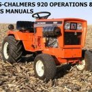 ALLIS CHALMERS 920 920D TRACTOR PARTS LIST & OPERATION MAINTENANCE MANUALs 200pg