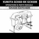 KUBOTA GCK60 OPERATIONS & PARTS MANUALS - 75pg for GCK60BX Service and Repair