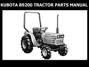 kubota b9200 tractor operations manual for b 9200 b9200hst. Black Bedroom Furniture Sets. Home Design Ideas