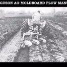 FERGUSON AO MOLDBOARD PLOW MANUALs 70pg with Service Operations & Maintenance