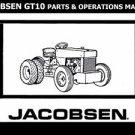 JACOBSEN GT10 OPERATIONs & PARTS MANUAL for GT-10 Garden Tractor Repair Service