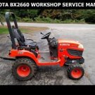 KUBOTA BX2660 WORKSHOP MANUAL for Tractor RCK-60 Mower & LA243 Service & Repair