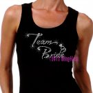 Team Bride - Diamond Ring - Iron on Rhinestone - Junior Black TANK TOP - Pick Size S-3XL - Bridal