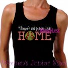 Softball - There's No Place Like Home - Iron on Rhinestone - Junior Black TANK TOP - NS
