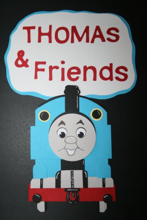 Thomas the tank engine paper pieced die cut