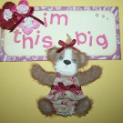 """I'm this big"" Tear Bear with Title tag"