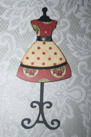 VINTAGE STYLE DRESSFORM/DRESS DIE CUT