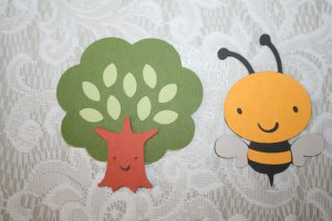 BUMBLE BEE AND TREE DIE CUT