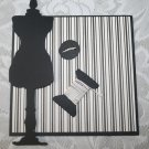 Tim Holt's Dressform/dress die cut photo mat set