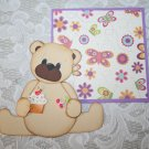 adorable Scrapbooking Paper pieced My Teddy Tales Bear die cut