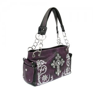 Purple Western Cross Handbag