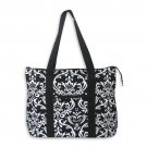 Black Damask Tote Bag