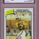 1980 Topps Ozzie Smith HOF 2nd Year #393 Graded GMA 5.5 EX+