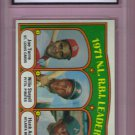 1972 Topps NL RBI Leaders Joe Torre / Willie Stargell / Hank Aaron HOF #87 Graded GMA 8.5 NM-MT+