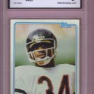 1981 Topps Walter Payton HOF #400 Graded GMA 6 EX-NM