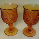 AMBER WINE GLASSES