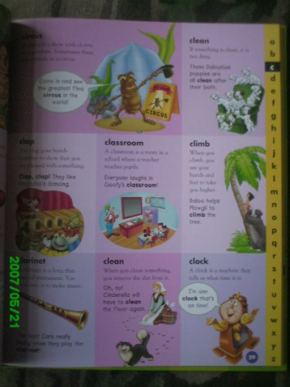 Disney Learning...My first Picture Dictionary Book