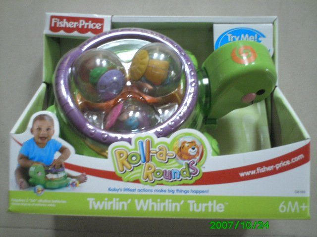 Fisher Price Twirlin', Whirlin' Turtle, Rolls-A-Rounds