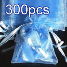 300pcs Baby Blue 4.5x6.5inch(12x17cm) Organza Bag Pouch for Gift Jewelry Solid Color