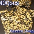 400pcs Black 2.7x3.5inch(7x9cm) Organza Bag Pouch for Gift Jewelry Random Design