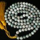 108 Tibet Natural Gemstn 0.4inch Bead Buddhist Prayer Mala Necklace