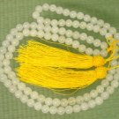 Tibet 108 Natural White Jade Gemstone 0.3inch Bead Necklace