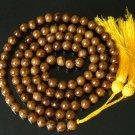 108 Tibet Veins Brown Gemstone Stone 0.4inch Bead Necklace