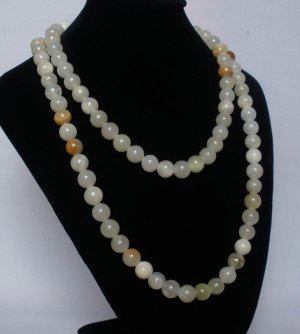 54inch Light Color Gemstone 0.4inch Bead Long Necklace