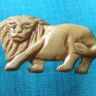 Tibet Yak bone carved bemused muzzy beast king leo lion IB020