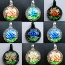 1pcs Glass Lampwork Hand Art Craft Colorful Cheap Jewelry Pendant with Necklace Cord SC094-100
