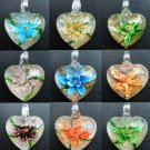 1pcs Glass Lampwork Hand Art Craft Colorful Cheap Flower Jewelry Pendant SC0121-132