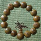 Green Sandalwood Beads(0.5inch) Buddhist Prayer Mala Bracelet
