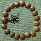 Green Sandalwood Beads(0.4inch) Buddhist Prayer Mala Bracelet