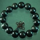 Carved Black Wood Beads Buddhist Prayer Mala Bracelet DI79