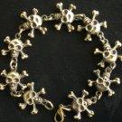 Alloy Zinic Brass Cool Male Men's Gift Skull Skeleton Framework Bracelet EZ2001