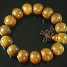 Carved Natural Wood Beads Buddhist Prayer Mala Bracelet DI710