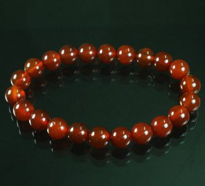 Tibet Red Agate Gemstone Beads Buddhist Mala Bracelet WZ228