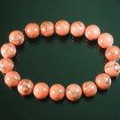 Tibetan Pink Red Gemstone Bead Buddhist Mala Bracelet WZ221
