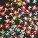 1000 pcs Wedding Dress Accessories Silvertone Dot Mixed Resin Star Flower Beads Findings ZZ5117