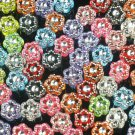 3000 pcs Silvertone Point Inlaid 2 Sides Mixed Resin Beads Findings ZZ540