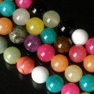 10 Strand 15inch Polished Mixed Gemstone Loose 0.4inch Beads ZZ5101