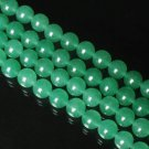 10 Strand 15inch Polished Natural Light Green Dongling Jade Gemstone Loose 0.4inch Beads ZZ5208