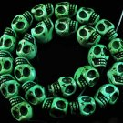 10 Strand (23pcs/s) Jewelry Findings Accessories Green Turquoise Skull Beads ZZ5025