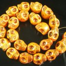 10 Strand (23pcs/s) Jewelry Findings Accessories Orange Turquoise Skull Beads ZZ5055