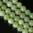 10 Strand 15inch Polished Light Green Gemstone Loose 0.5inch Beads ZZ5087