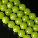 10 Strand 15inch Polished Olive Green Gemstone Loose 0.5inch Beads ZZ5090