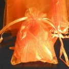 50pcs Orange 2.7x3.5inch(7x9cm) Organza Bag Pouch for Gift Jewelry Solid Color