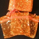 50pcs Orange 2.7x3.5inch(7x9cm) Organza Bags Pouch for Gift Jewelry Random Design